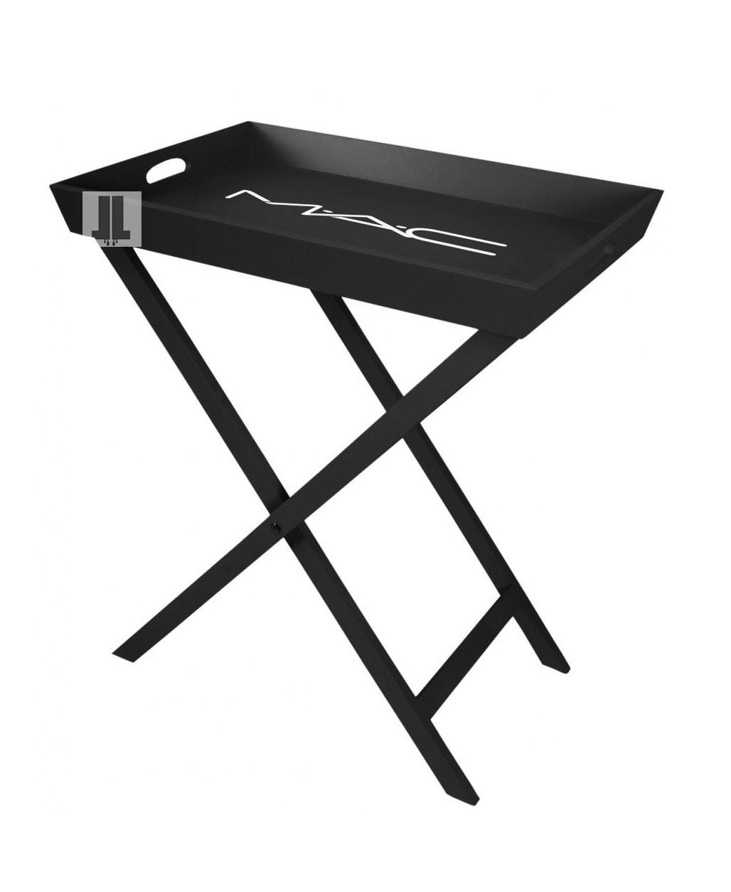 mac make up vanity tray table black foldable 24x16x2