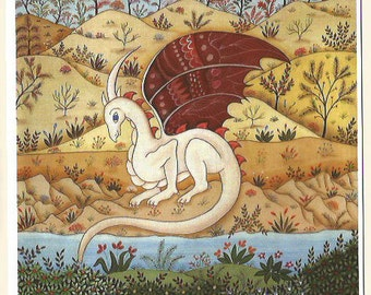 Dragon in the desert. Fine art card