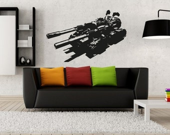 New Military Tank Wall Decal Wall Stickers Large 90 cm X 58 cm