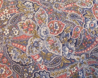 Vintage Paisley Print fabric sold by the yard