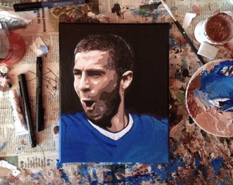 Eden Hazard Painting - Print (frame included!)