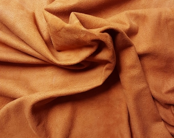 Tan / Buckskin Color Suede Lamb Skin Craft Leather Nice, Soft, Whole Skins! Free Shipping