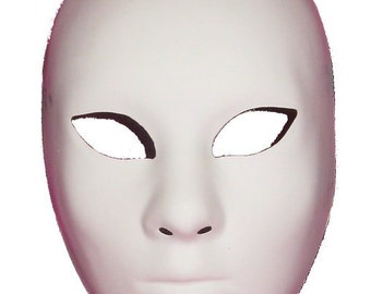 """Blank Masquerade Mask """"Volto"""" face for decorating"""