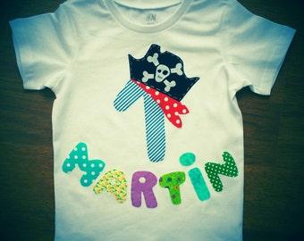 Pirate birthday t-shirts