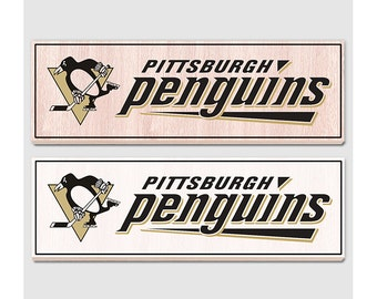 Pittsburgh Penguins Wood Sign Rustic Home Decor Pittsburgh Penguins Fan Gift Man Cave