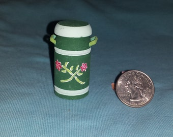 Miniature Wood Milk Can Doll House Furnishing