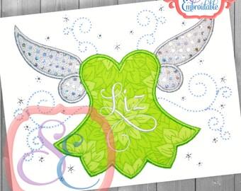 Fairy Princess Frame Applique Design For Machine Embroidery INSTANT DOWNLOAD
