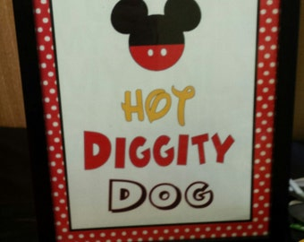 Hot Diggity Dog 8 x 10 Sign