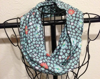 Mint and Coral Infinity Scarf