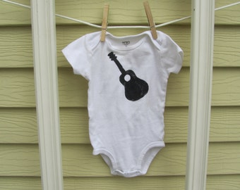 hand painted guitar onesie bodysuit