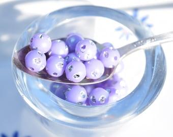 25 Purple  Beads - 8mm Purple Acrylic Beads - B31