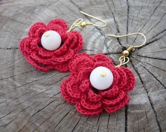 Crochet earrings - flowers