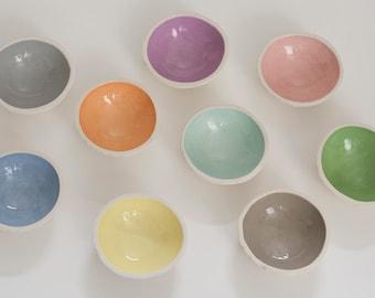 Pastel Ceramic Trinket Bowls