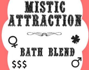 Mistic Attraction Southern Folk Magic Bath Blend, Hoodoo Attraction Bath Salts, Voodoo Attraction Bath Salts, Attraction Bath Blend