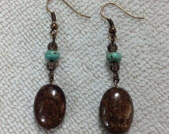 Bronzite Earrings