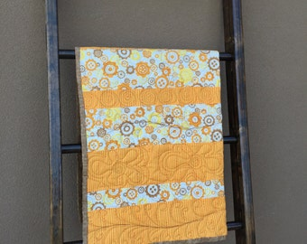 Orange and Brown Baby/Toddler Quilt