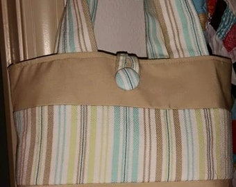 Linen/Cotton upcycled purse