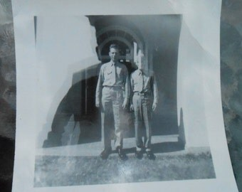 Vintage Original Photo Snapshot Abstract Double Exposure Ghost Image Soliders