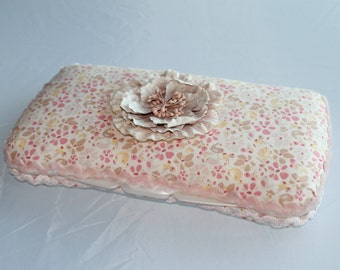 Decorative Fabric Baby Diaper Wipe Holder/Clutch
