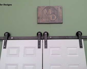 Double Sliding barn door hardware, barn door hardware
