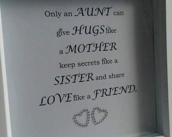 Aunt word art