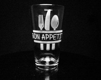 Bon Appetit Pint Glass