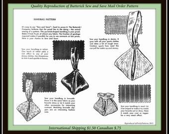 PDF Digital Delivery Butterick-mail order -BAG-Satchel-Purse-Handbag-BRIDAL-Sewing-Fabric-Pattern-Vintage-1950s