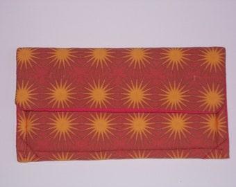 Handmade original design organic cotton purse