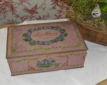 Louis Sherry New York Paris Candy Tin, Vintage Tin
