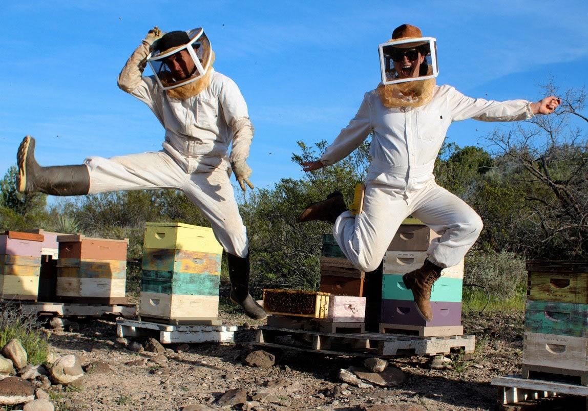 QYDJ Pollen Arts, header photo, beekeepers