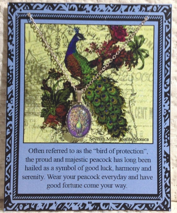 Peacock Charm Necklace on Story Card