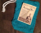 Hand Sewn Soap Bags A Must Have for Your Handmade All Natural Soaps (teal)