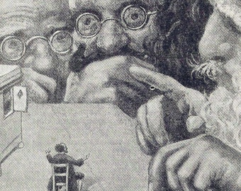 Gulliver & Giants Vintage Children's Fairytale Illustration Print 1927 Original