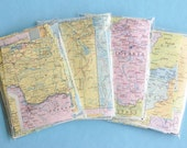 Travel Themed Wedding DIY Decorations Map Paper Scrap Pack 60+ pieces All PASTEL Scrapbook Paper