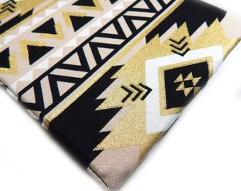 Kindle Cover - Aztec Luxe - hardcover eReader case - Kindle Paperwhite cover - fits Kindle Touch - tech accessory southwest black and gold
