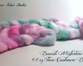 Hand dyed Faux Cashmere Top - Banish Misfortune colorway - 4.4 oz