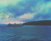 8x10 Fine Art Print - San Juan Island Ferry - Pacific Northwest
