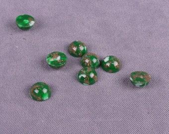 Green Plastic Stones 9mm - 50 Pieces (PT9GR-50)