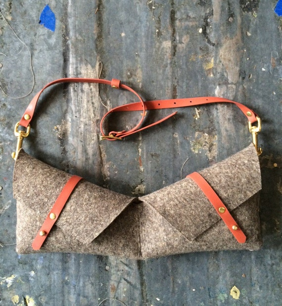 holster bag in felt and rubber