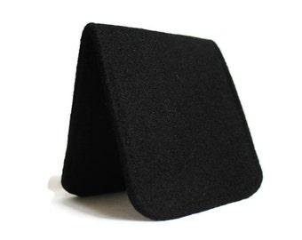 SALE OhSoRetro Mens Wallet / Super Thin Minimalist BiFold Fabric Wallet / Black Felt / Vegan Wallet