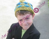 PDF PATTERN ONLY Almost Argyle-Style Unisex Knitted Child Hat