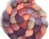 Handpainted BFL Wool Roving - 4 oz. PASSION FRUIT - Spinning Fiber
