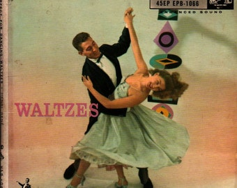 Waltzes Perfect for Dancing - Vintage Record Cover