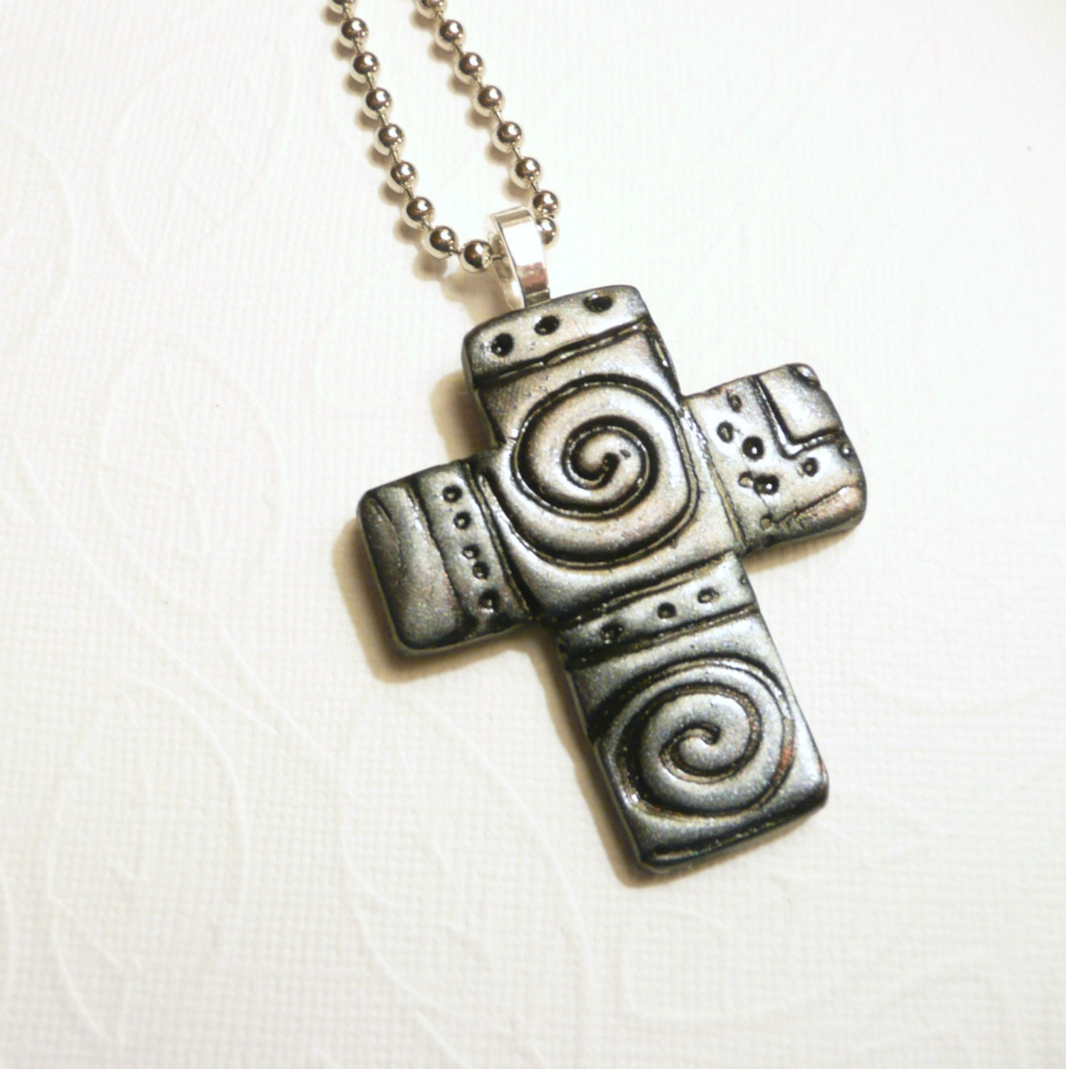 Christian Cross Necklace Mens Jewelry Gift for Him Faith