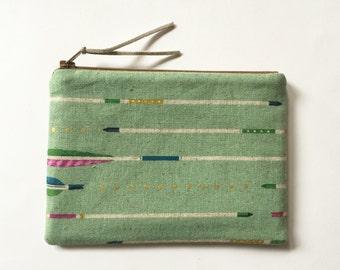 Arrows - Zipper Pouch - Cosmetics Bag - Clutch