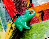 1pc TINY GLASS ELEPHANT Vintage Charm Japan