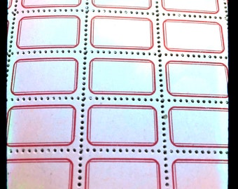12pcs VINTAGE GUMMED LABELS Old Eureka Tiny Paper Ephemera