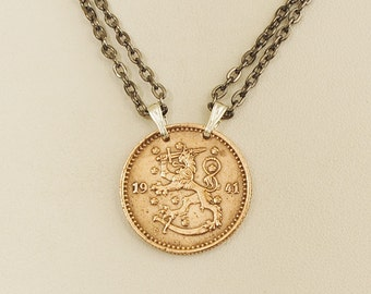 Finland Coin Necklace 1941