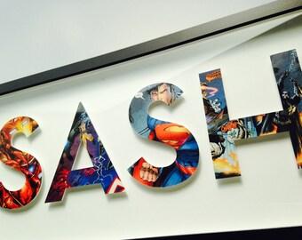 4 letters- CUSTOM superhero alphabet letters