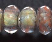 Tumbleweed - Seven Boro lampwork beads - SRA K45